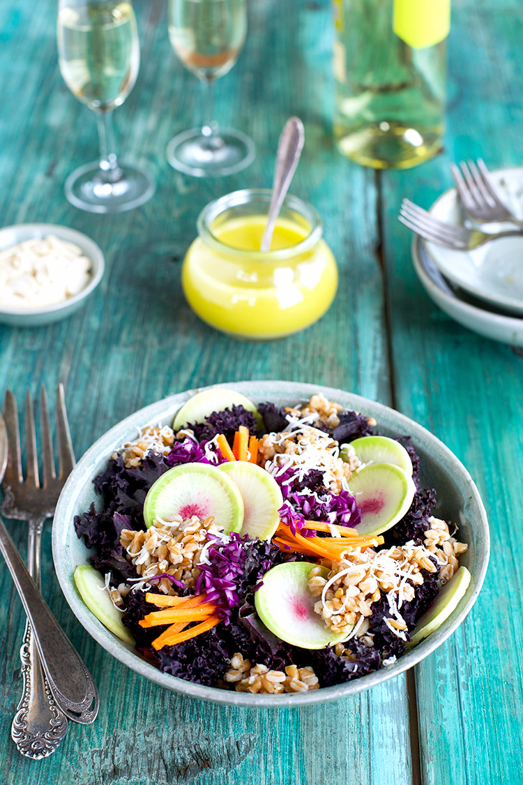 Farro-and-Purple-Kale-Salad-with-Meyer-Lemon-Viniagrette