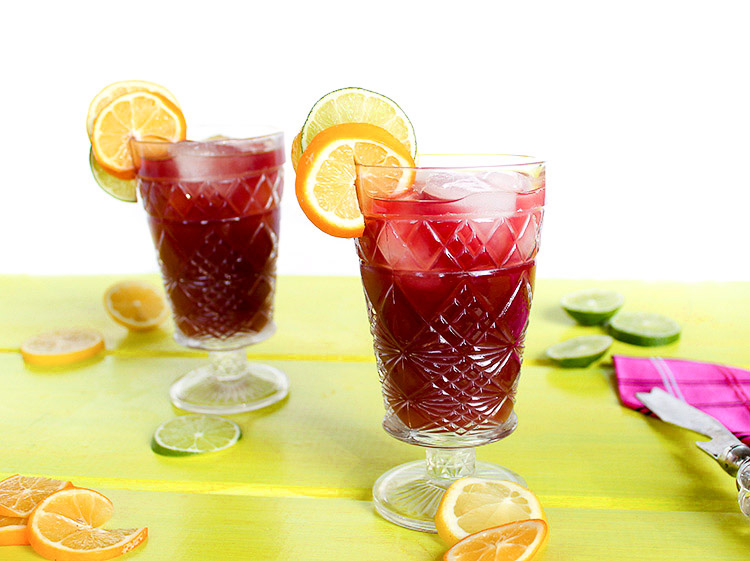 Homemade Red Sangria Cocktail
