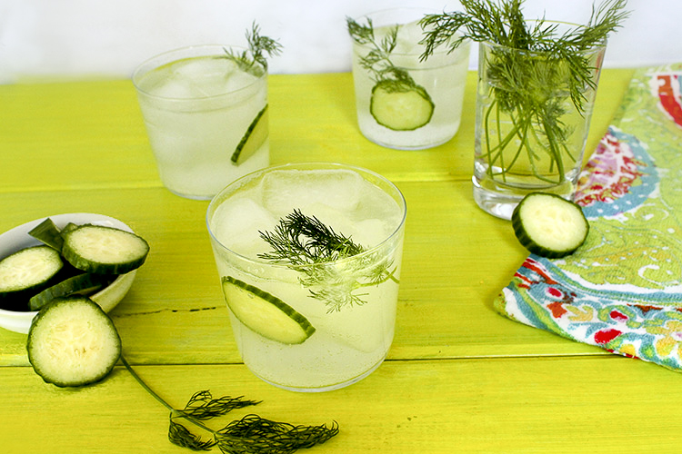 Cucumber Dill Rickey Cocktail copy
