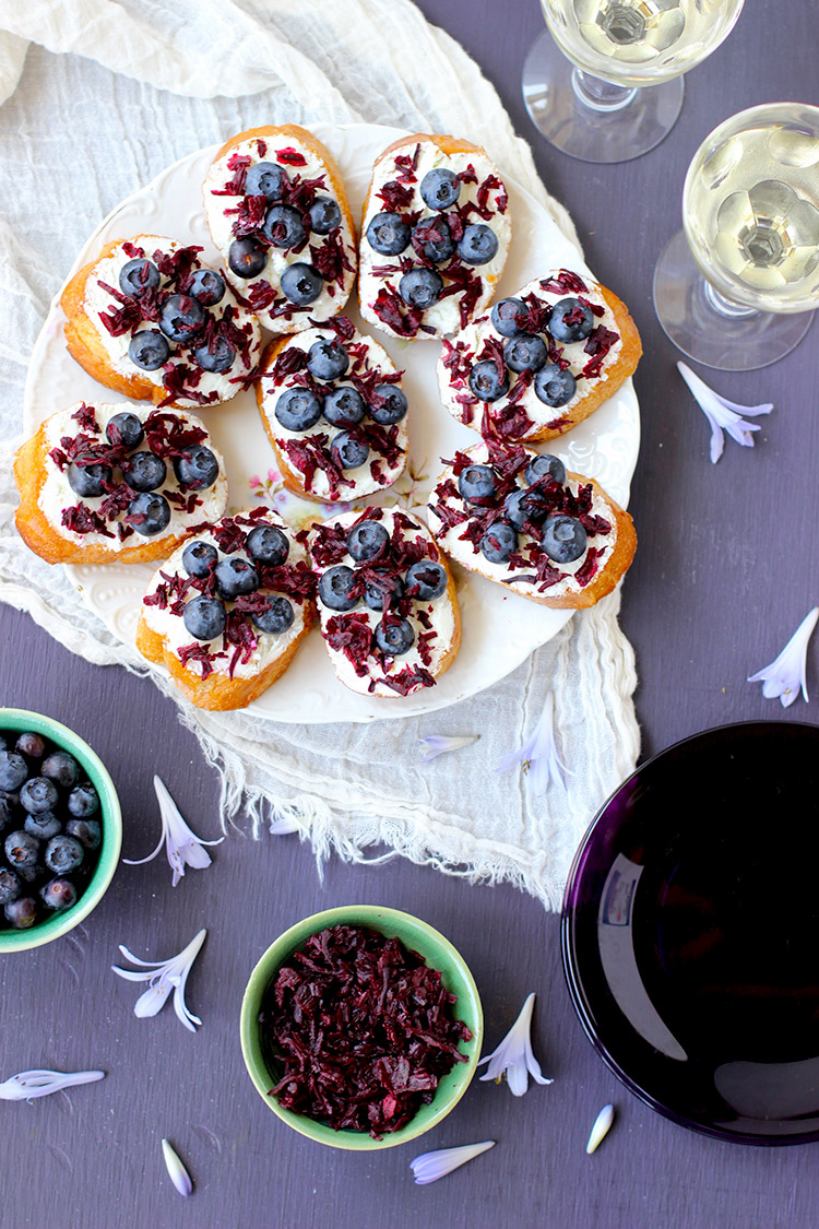 Blueberry-and-Hibiscus-Crostini