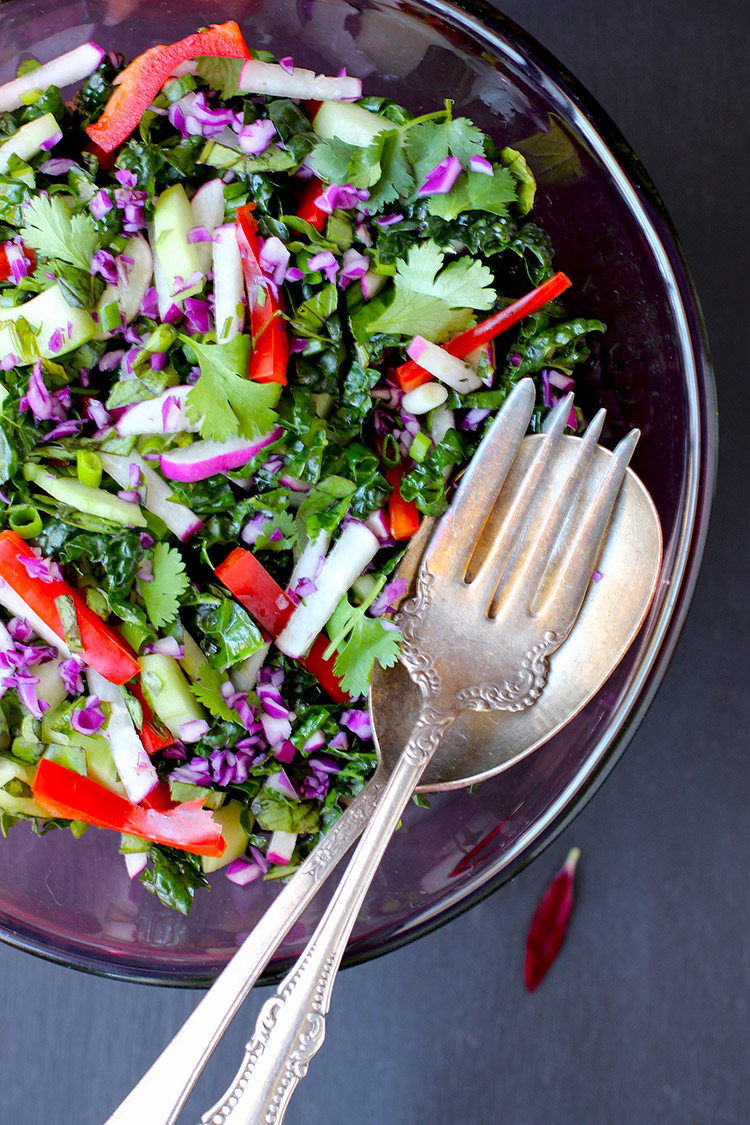 Kale Roasted Carrot Salad