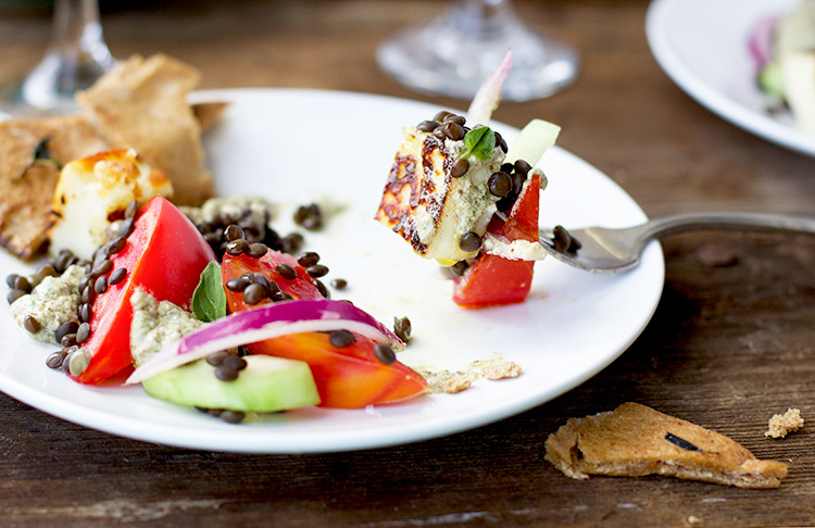 Black-Lentil-Greek-Salad-with-Oregano-Feta-Lemon-Pesto