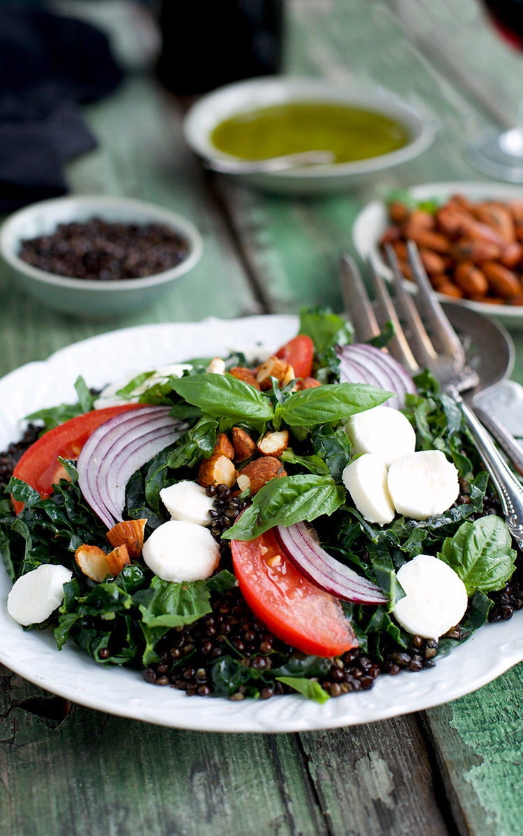 This Kale Crispy Black Lentil Salad