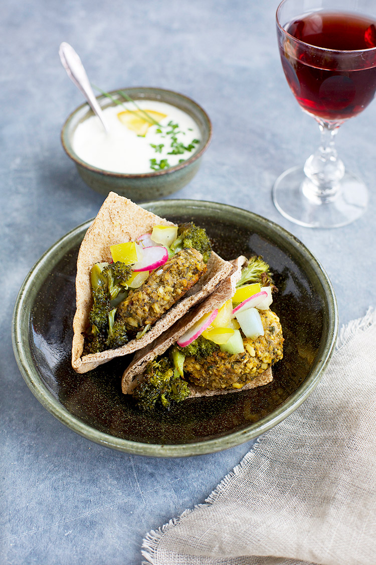 Charred Broccoli Falafel