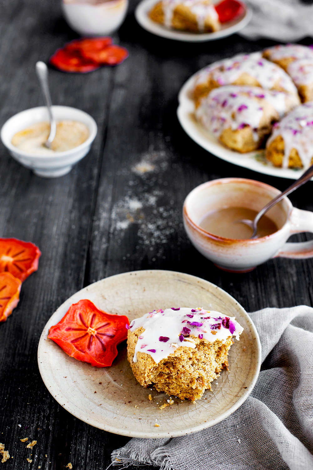 Persimmon Rose Scones