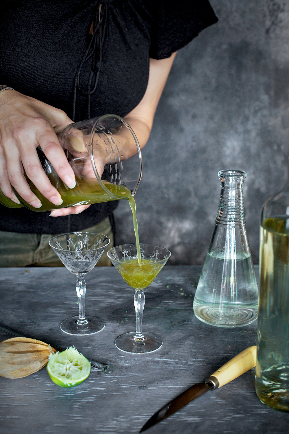 Matcha Cucumber Spritzertini Winetail